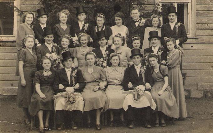 Kirmesgesellschaft 1950/ Archiv Crawinkler- Runde