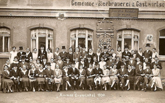 Kirmesgesellschaft 1930/ Archiv Crawinkler- Runde