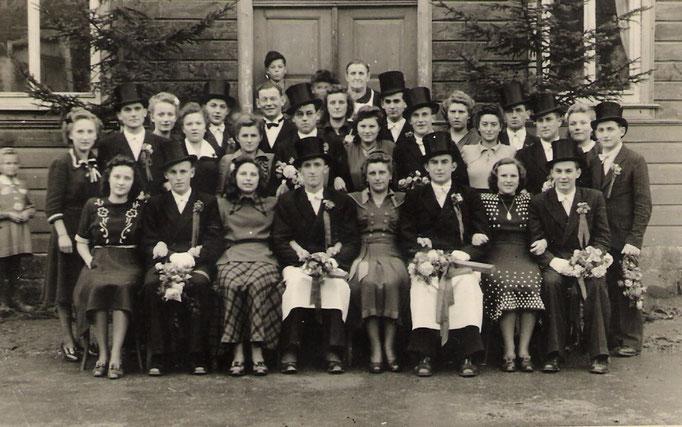 Kirmesgesellschaft 1949/ Archiv Crawinkler- Runde