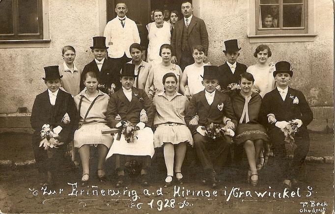 Kirmesgesellschaft 1928/ Archiv Crawinkler- Runde