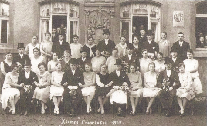 Kirmesgesellschaft 1929/ Archiv Crawinkler- Runde