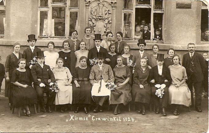 Kirmesgesellschaft 1924/ Archiv Crawinkler- Runde