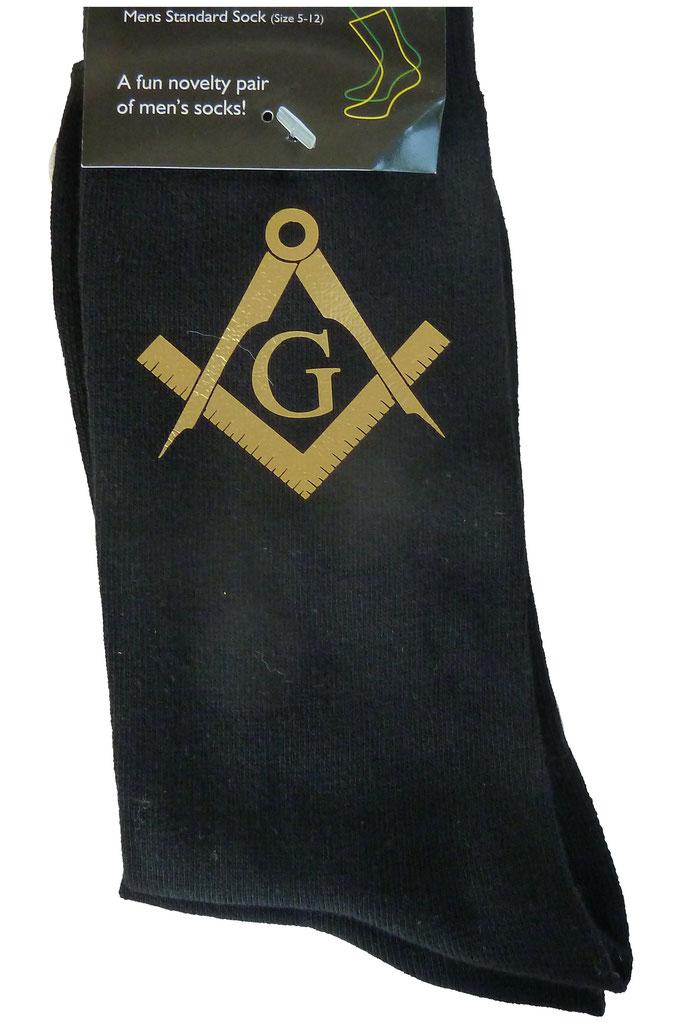 chaussettes avec symbole maçonnique