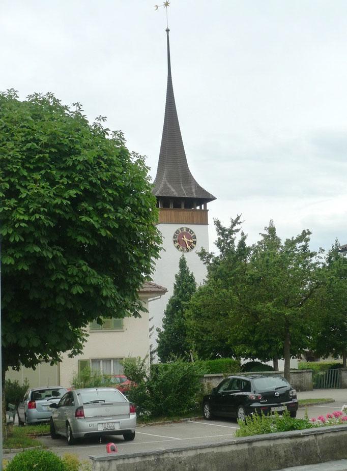 Mitten im Dorf Eriswil beim Parkplatz