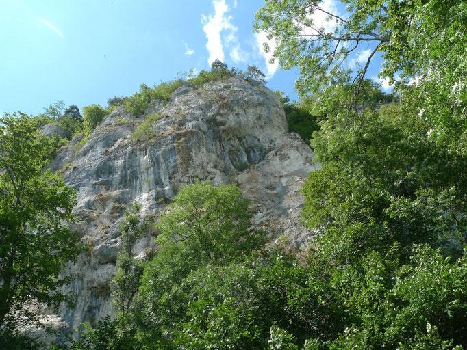 Imposante Felswand