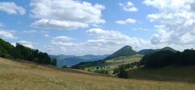 Blick auf das Plateau Schmidenmatt mit dem Rüttelhor