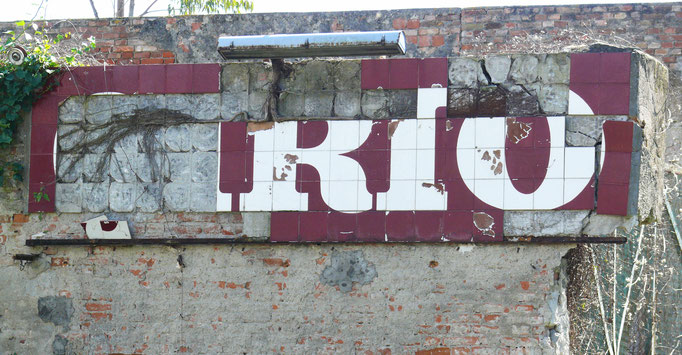 Quanto resta della scritta della EX Fabbrica CIRIO di Paestum - 2016