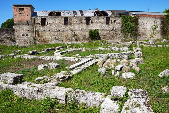 Panoramica del santuario di SANCATA VENERA e della ex fabbrica Cirio di Paestum - 2016