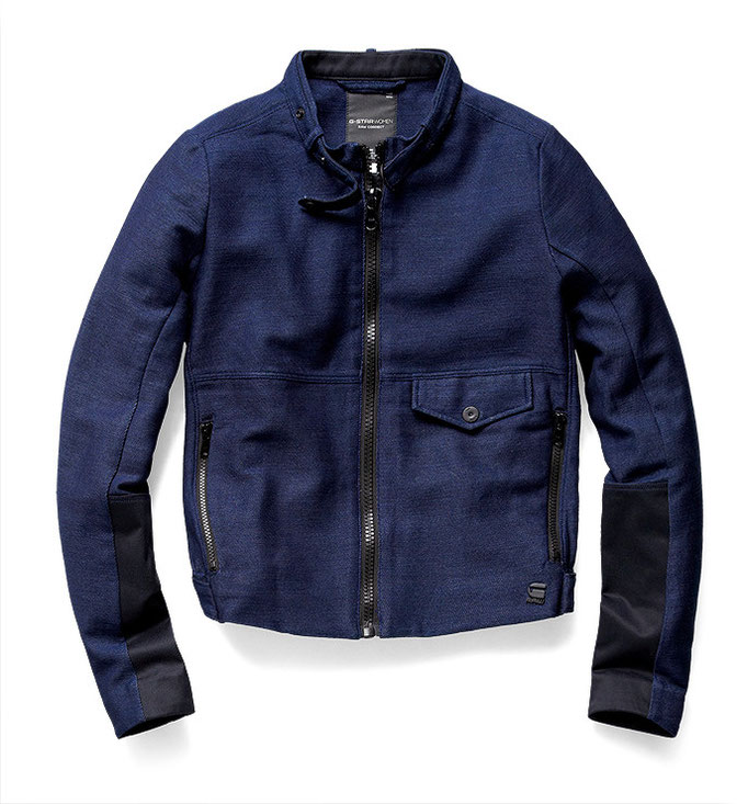 """Soredo Chopper Jacket"" in Dunkelblau. G-Star RAW, ca. 180 Euro"