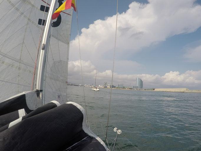 Ankunft in Barcelona vor der Regatta