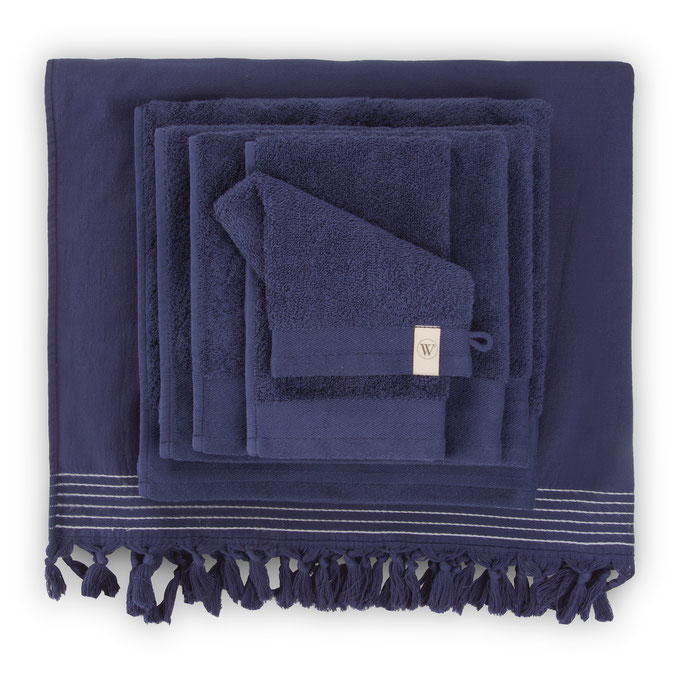 Walra handdoeken navy blauw