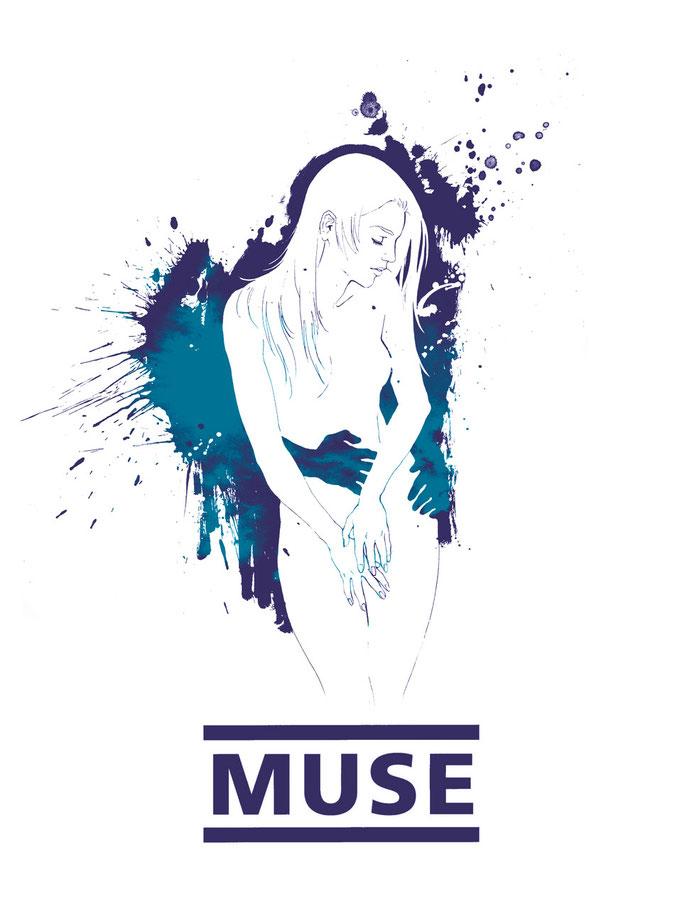 muse T-Shirt contest digital illustration