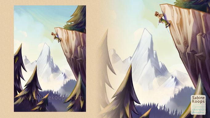 Mountains, free digital illustration, 2017