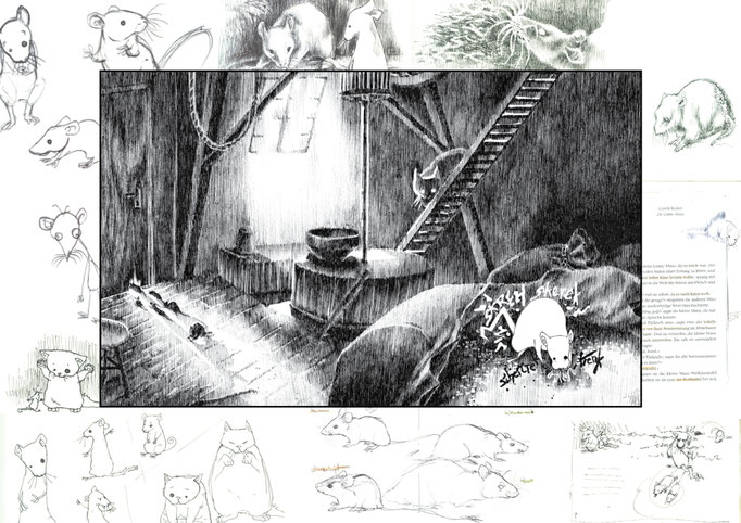 The Comic Mouse - style and character scribbles