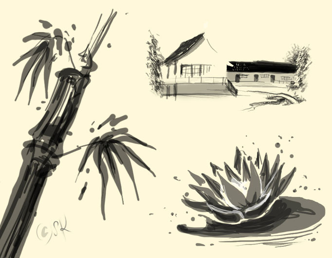niko niko tei - ambience illustrations for web and menu