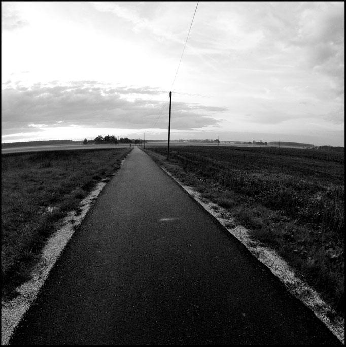 Quelque part sur une route, France.