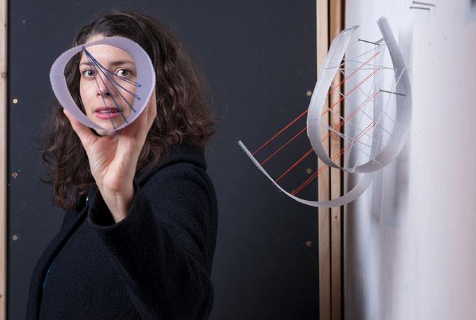 Porträt Aurélie Pertuscot, Nominée Neuköllner Kunstpreis 2019, Foto: Ines Borchart