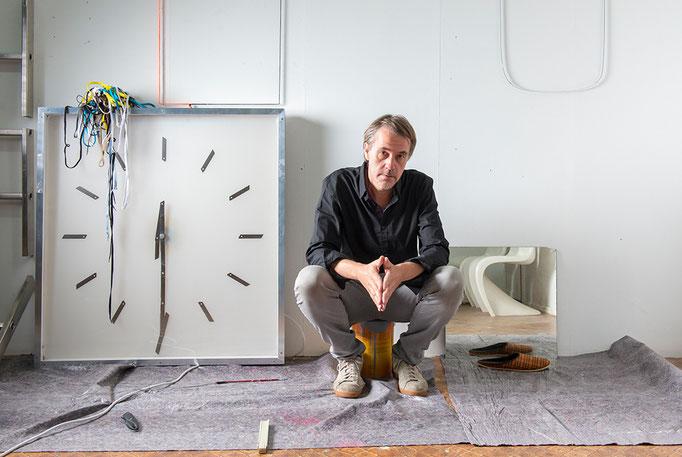 Porträt Ingo Gerken, Nominée Neuköllner Kunstpreis 2019, Foto: Ines Borchart