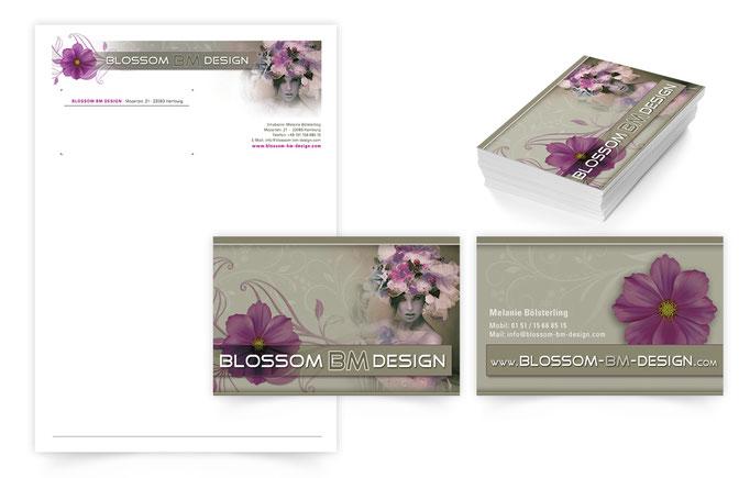 briefbogen-visitenkarten-Geschaeftsausstattung-Blossom-design-seidenblumen-grafik-thielen