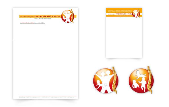 Briefbogen-terminplaner-Logo-Keutgen-Physiotherapie-design-grafik-thielen
