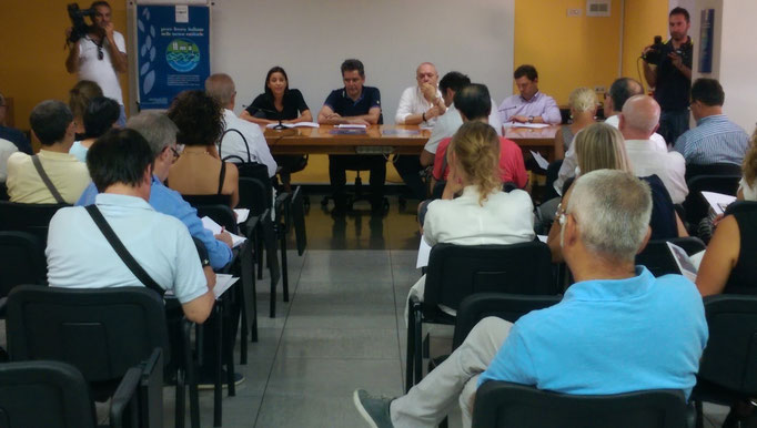 Conferenza Stampa del 17 luglio 2015 presso la Sala Biblioteca dell'Ospedale di Macerata in Via S.Lucia, 2.