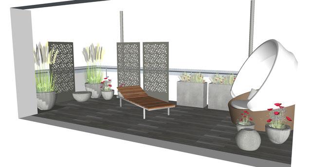 Dachterrasse 3D visualisierung