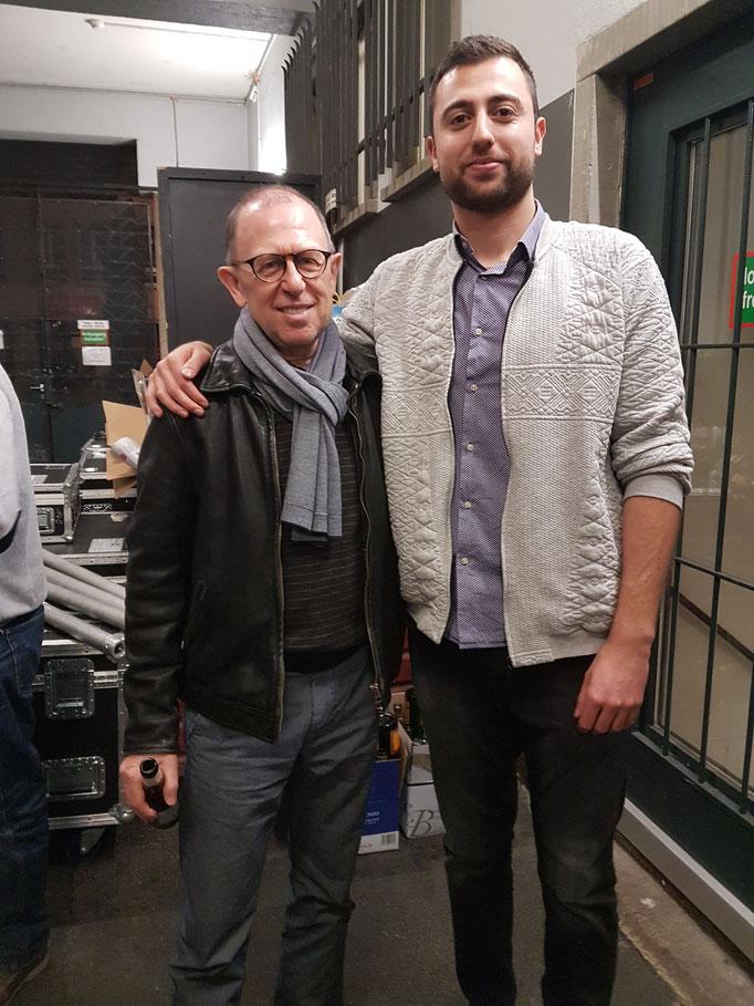 """Mit Viktor Giaccobo nach meinem Auftritt an der """"Rampensau"""" in Winterthur"""