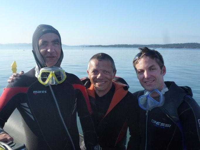 Bernard Vincent, Pascal Schaufler et Franck Travers
