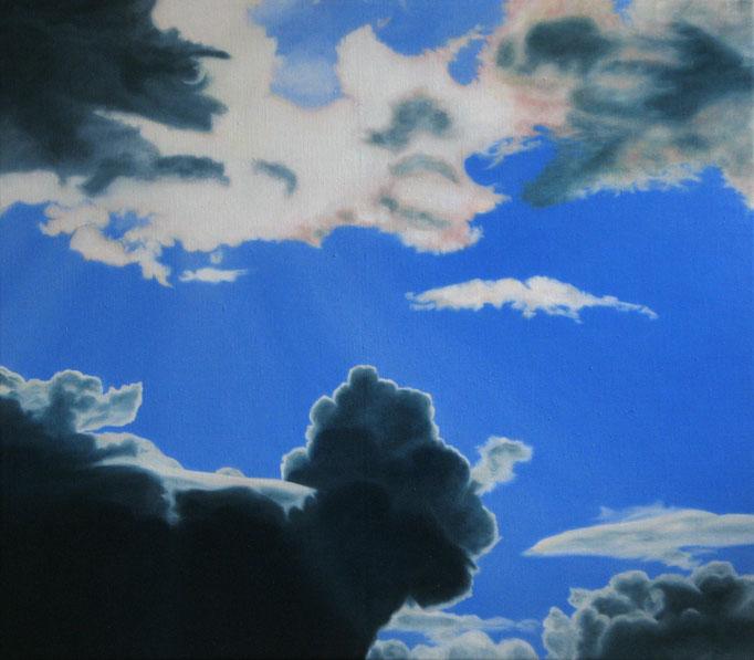 <b>Wolken 1</b><br>Öl/Leinwand | 2009 | 70 x 80 cm