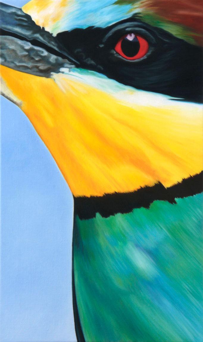 <b>Bienenfresser</b><br>Öl/Leinwand | 2014 | 75 x 45 cm