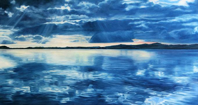 <b>Lago di Bolsena VI</b><br>Öl/Leinwand | 2018 | 70 x 130 cm