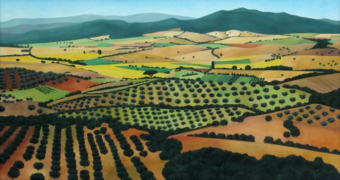 <b>Capalbio</b><br>Öl/Leinwand | 1997 | 80 x 150 cm