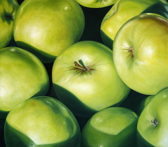 <b>Äpfel</b><br>Öl/Leinwand | 2013 | 70 x 80 cm