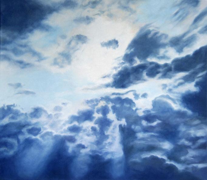 <b>Wolken 3</b><br>Öl/Leinwand | 2013 | 70 x 80 cm<br><small>(Privatbesitz)