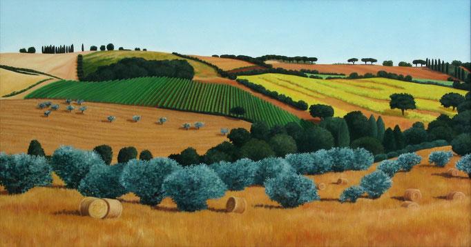 <b>La vigna</b><br>Öl/Leinwand | 1998 | 80 x 150 cm