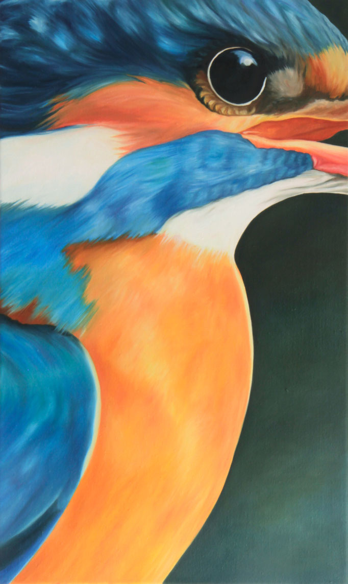 <b>Eisvogel</b><br>Öl/Leinwand | 2015 | 75 x 45 cm