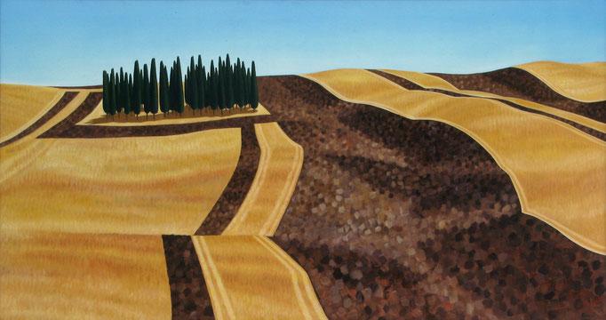 <b>Cipressi I</b><br>Öl/Leinwand | 1996 | 80 x 150 cm