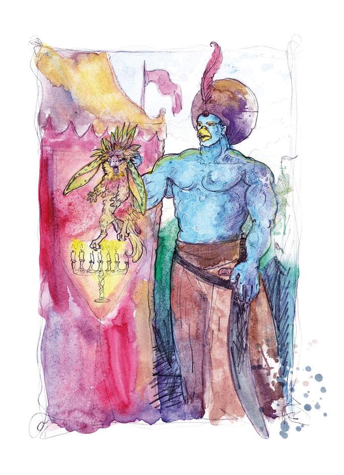 Illuán der Blaue Dschinn und der Hurtling