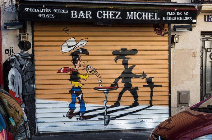 Straßenkunst im ehemaligen Arbeiterviertel Butte aux Cailles