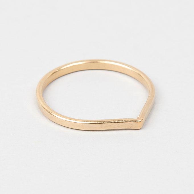 tiphine. Ring Caro (Band, breit, vergoldet)