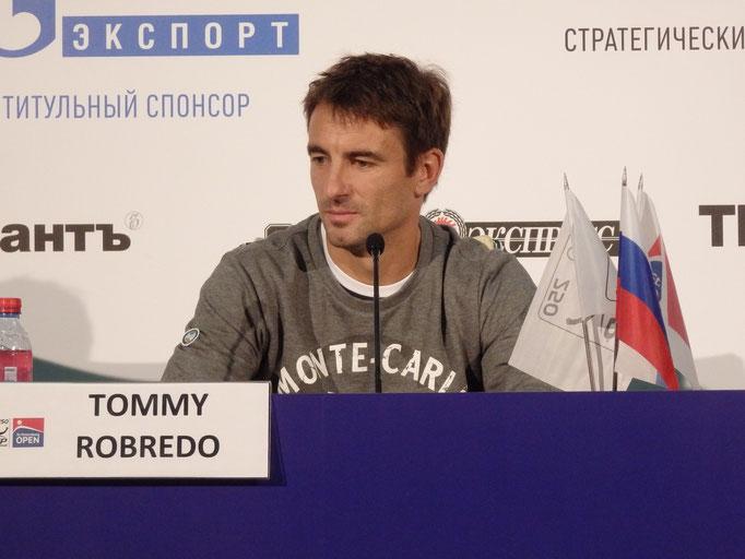Томми Робредо на пресс-конференции