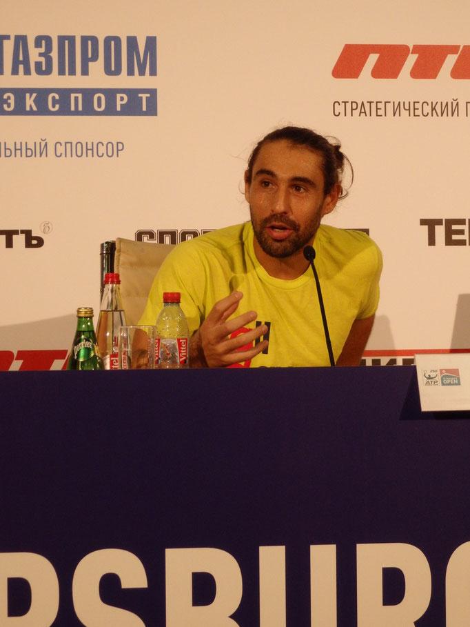 Маркос Багдатис на пресс-конференции