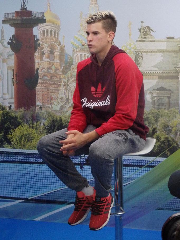 Доминик Тим - первый полуфиналист турнира St. Petersburg Open 2015