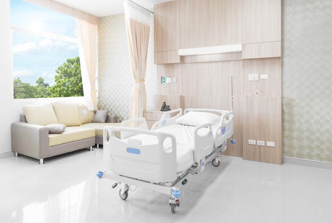 Patientenzimmer Wandverkleidung