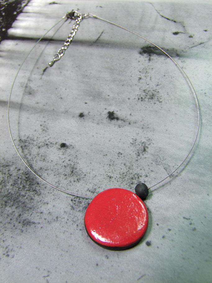 bijoux artisanal contemporain rouge