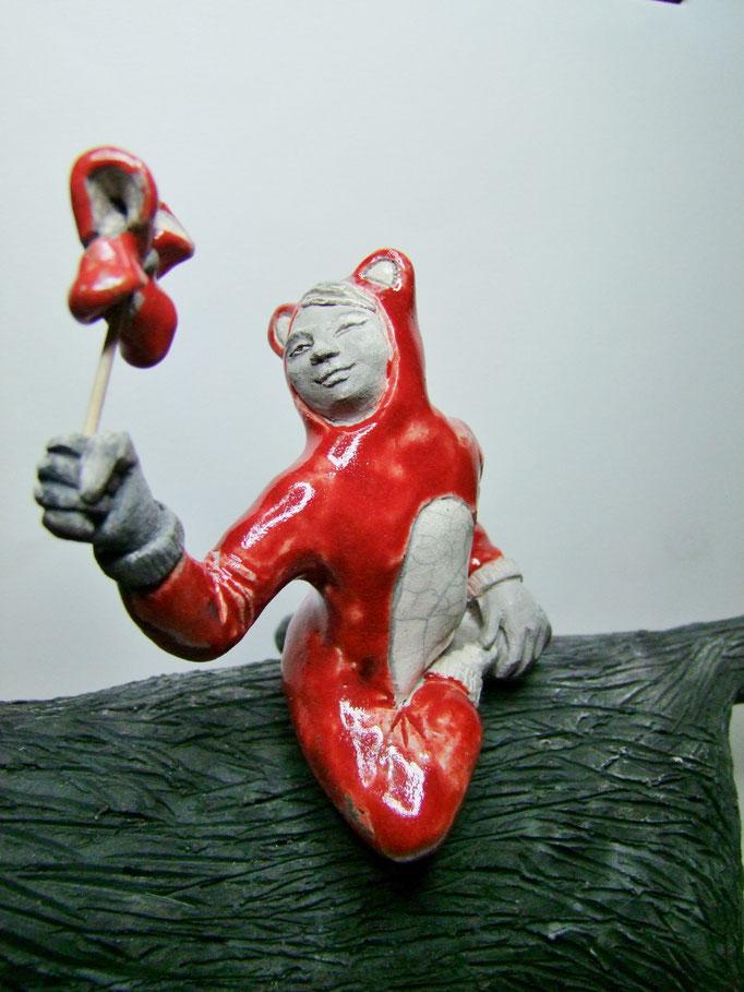 statue chaperon rouge de simplement terre