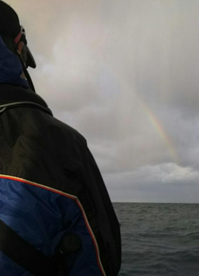 2月27日雨模様 虹が
