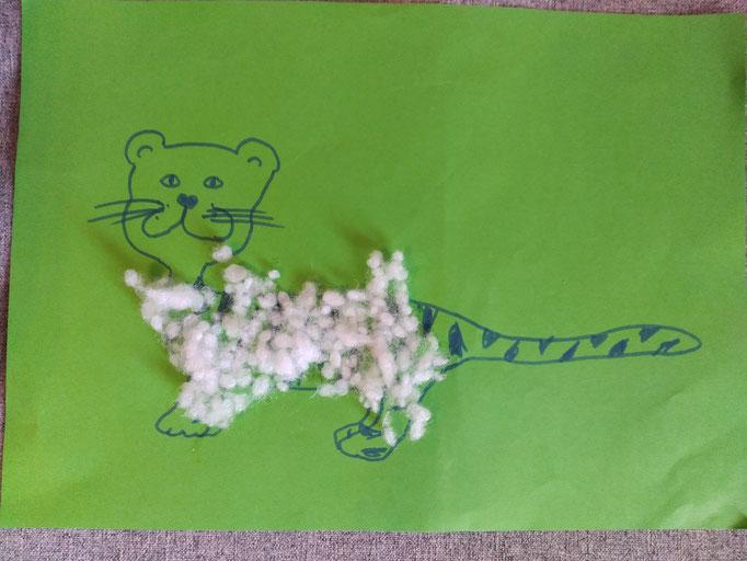 Tiger mit flauschigem Fell (Jonathan, 3)