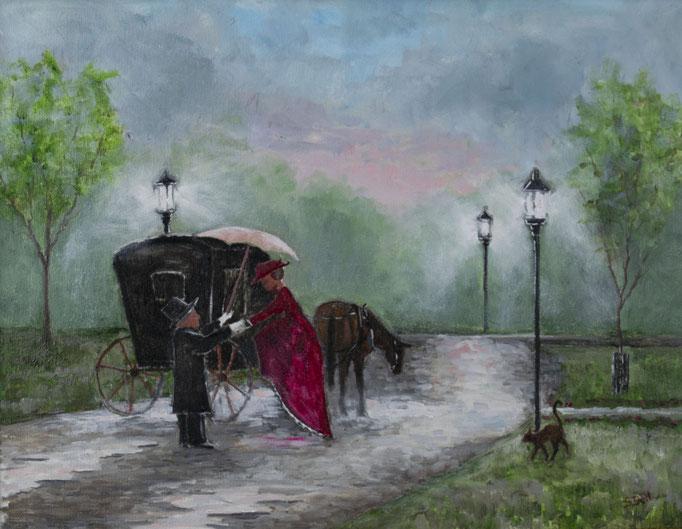 An Evening Out (Shawna Bell)- 10 x 12 -unframed:  $25  framed:  $80