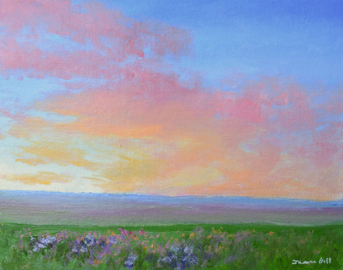 Rainbow Sunset (Jessica Bell) - 10 x 12 - unframed:  $25   framed:  $80